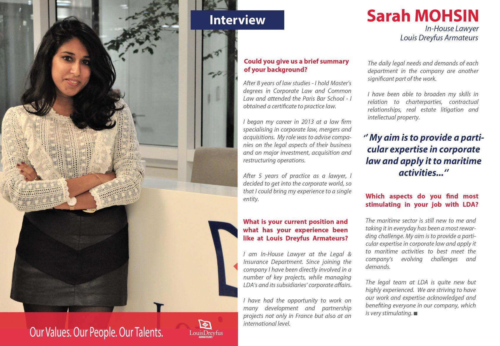 Sarah Mohsin LDA UK