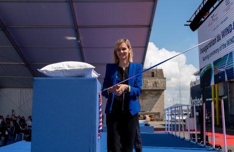 Agnes Pannier-Runacher inaugure le navire Wind of Hope